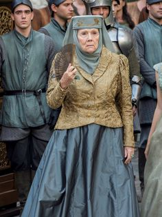 Lady Olenna--controlling sh*t with a flick of her hand fan.....must be nice!