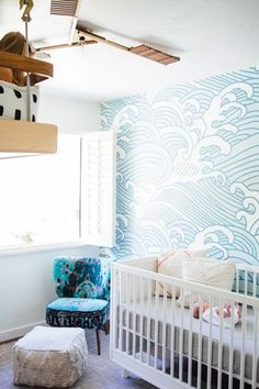 Crashing Waves Wall for your Nursery