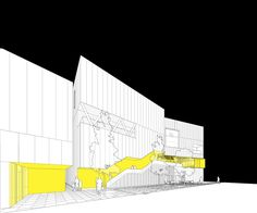 Cartoon Cultural Center. Competition design for a cultural and welfare building in the city of Bucheon, South Korea. Daniel Valle Architects