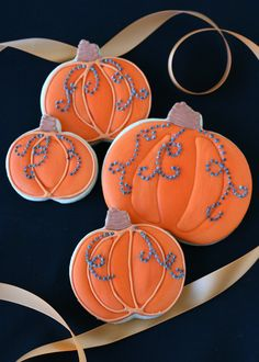 Jeweled Pumpkin Cookies (would maybe use green for the vines)
