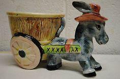 vintage ceramic Donkey planter from Japan on eBay from missrubyb