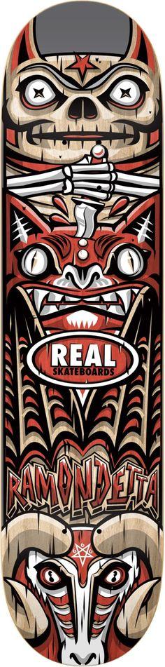 real-ramondetta-spirit-guide-85-skateboard-deck Skateboard Deck Art, Skateboard Design, Surf, Skate And Destroy, Skate Art, Skate Decks, Longboarding, Snowboards, Logo Sticker