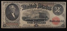 Exceptional 1917 $2 United States Note Fr. 58 Large Size Legal Tender https://www.paper-money-collector.com/product/1917-2-united-states-note-fr-58-large-size-legal-tender/ #Currency #UnitedStates