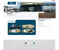 Beta Yatching Website by Caner Erdogan, via Behance