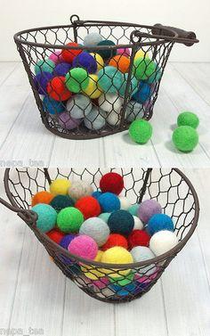 Holiday 160716: 2Cm 20 Mm Felt Balls Beads Choose Or Mix Handmande 100% Wool Pom Pom Craft Acc -> BUY IT NOW ONLY: $38 on eBay!