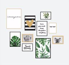 36 Ideas wall frames ideas bedroom home office for 2019 Cute Room Decor, Wall Decor, Botanical Wall Art, Home Office Design, Cool Walls, Frames On Wall, Wall Design, Gallery Wall, Bedroom Decor