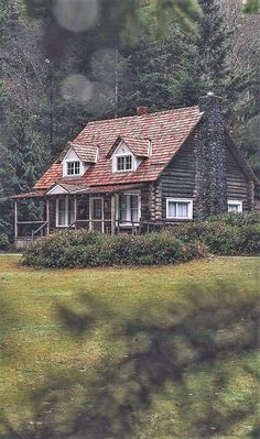 -Blissful fall in the form of a woodsy cabin. Log Cabin Living, Log Cabin Homes, Log Cabins, Future House, My House, Little Cabin, Forest House, Cabins And Cottages, Cabins In The Woods