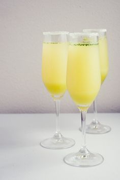 Happy Hour: Limoncello Champagne Cocktails