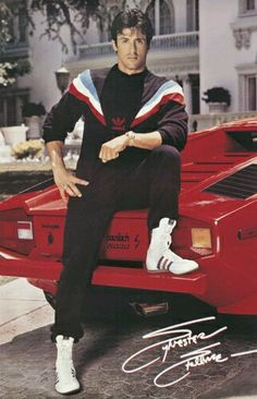 Ahhh... the 80s...what a time! This pic of Stallone is hilarious to me, right down to the gold watch.