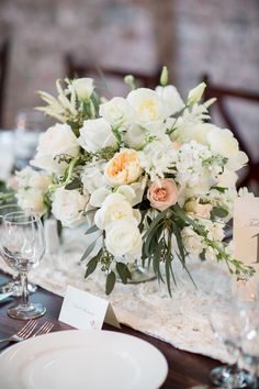 Photography: Theo Milo Photography   theomilophotography.com Floral Design: Design Perfection   designperfectionnc.com Venue: Bakery 105   128southevents.com   View more: http://stylemepretty.com/vault/gallery/38286