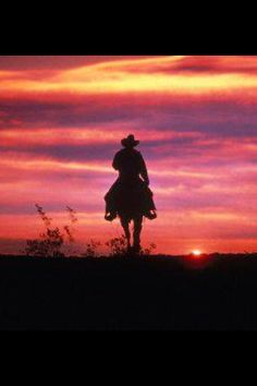 Cowboys and sunsets!