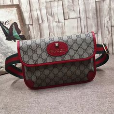 Gucci GG Supreme Belt Bag 493930 Size: cm Beige/ebony GG Supreme canvas, a material with low environmental impact, with leather. Gucci Purses, Gucci Handbags, Hobo Handbags, Gucci Bags, Handbags Michael Kors, Luxury Handbags, Purses And Handbags, Leather Handbags, Cheap Handbags