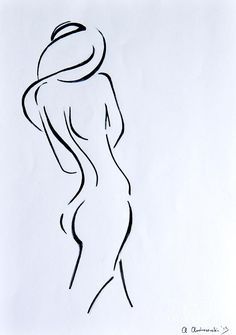 Drawing Art Print featuring the painting Sketch Of A Nude Woman by Anna Androsovski Human Figure Drawing, Body Drawing, Woman Drawing, Life Drawing, Painting & Drawing, Drawing Women, Body Sketches, Art Sketches, Art Drawings