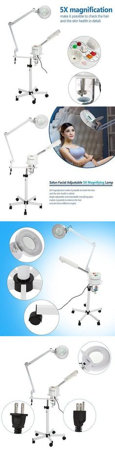 Professional Facial Machines: Professional Facial Steamer And 5X Magnifying Lamp Uv Ozone Steamer Machine F3z8 BUY IT NOW ONLY: $101.62