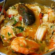 Mariscada-Portuguese Seafood-Rice by Chef Luisa Fernandes Fish Dishes, Seafood Dishes, Main Dishes, Fish Recipes, Seafood Recipes, Cooking Recipes, Seafood Rice Recipe, Seafood Meals, Seafood Stew