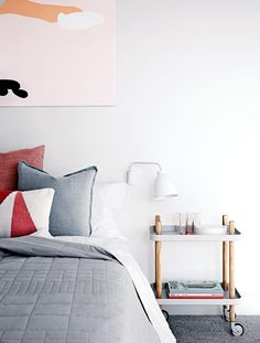 Bedroom inspiration: 15 shades of grey. Styling by Mim Design. Photography by Sharyn Cairns.