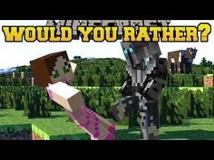 ▶ Pat and Jen Minecraft: Mini-Game - WOULD YOU RATHER? (MORE INSANE QUESTIONS!!) - YouTube