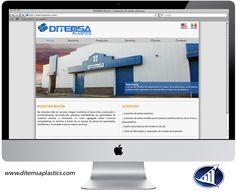 Página web de Ditemsa Plastics, empresa ubicada en Saltillo, Coahuila.   www.ditemsaplastics.com
