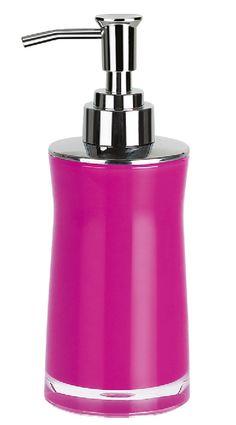 #Spirella Sydney Acrylic Dark Pink Soap Dispenser. #bathroom #pink