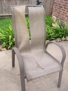 Who knew you could replace the slings on patio furniture? Definitely need to r - Patio - Ideas of Patio Furniture - Who knew you could replace the slings on patio furniture? Definitely need to replace some on our chairs! Patio Furniture Redo, Furniture Repair, Diy Outdoor Furniture, Garden Furniture, Painted Furniture, Painting Patio Furniture, Rustic Furniture, Modern Furniture, Furniture Design