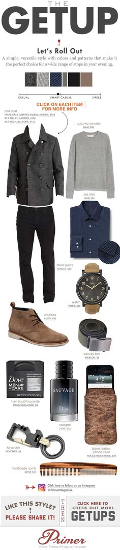 The Getup - going out outfits - Mens Casual Fashion Inspiration #MensFashionSwag