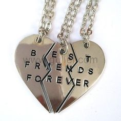 Personalized Friendship Necklaces Jewelry Set for 3
