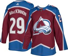 adidas Men s Colorado Avalanche Nathan MacKinnon  29 Authentic Pro Home  Jersey 5aac0c168128