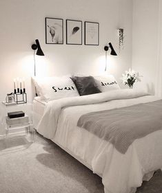 32 Beautiful Bedroom Decor Ideas for Compact Departments; For smart small apartment decorating ideas on a budget, look to accessories. bedroom decor ideas for teens. Master Bedroom Design, Home Decor Bedroom, Bedroom Bed, Modern Bedroom, Budget Bedroom, Bedroom Furniture, Small Bedroom Interior, Bedroom Themes, Furniture Ideas