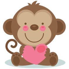 Cute Valentine Monkey SVG