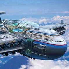 [New] The 10 Best Technologies Today (with Pictures) - New Aeroplane by Air Europe with shopping mall suit rooms swimming pool on top. Three floors first aeroplane in the world. Retro Futuristic, Futuristic Technology, Futuristic Architecture, Amazing Architecture, Futuristic Vehicles, Technology Gadgets, Futuristisches Design, Plane Design, Science Fiction Art