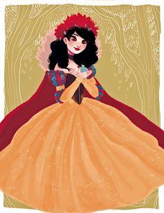 "princessesfanarts: "" snow white by snownymphs """