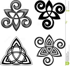 Triquetra and Triple Spiral (Triskele)