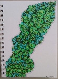 "My latest ""doodle"" #avinetreecursive #zentangle"