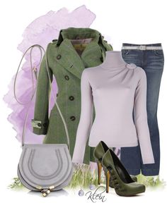 """""""Green and Lavender"""" by stacy-klein on Polyvore... LOVE THE SHOES AND THE JACKET AND JEANS ,"""