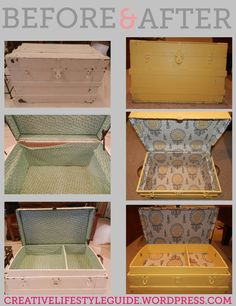 DIY old trunk, SO EASY!!! I have one in my garage just waiting for this!!