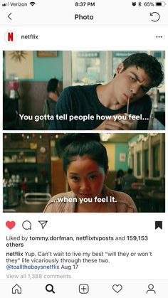 Tv Show Quotes, Movie Quotes, Love Movie, Movie Tv, Movies For Boys, Jenny Han, Lara Jean, Film Books, The Fault In Our Stars