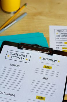 Free Printables for Parent Teacher Conferences Parent Teacher Conference Forms, Parent Teacher Communication, Parent Teacher Conferences, Paragraph Writing, Opinion Writing, Persuasive Writing, Writing Rubrics, Students Day, Student Goals