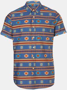 Short Sleeve Print Shirt - Lyst