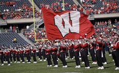 The marching band shows Badger pride