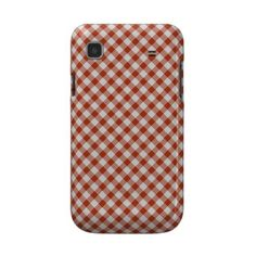 red / white vichy gingham squares Samsung case