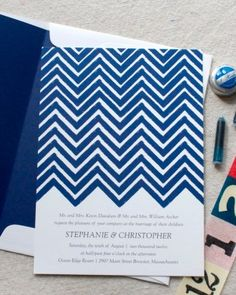 """See the """"Patterned Invitation"""" in our Modern Wedding Invitations gallery"""