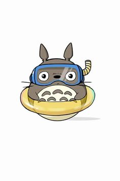 Totoro in swim gear                                                       …                                                                                                                                                                                 More