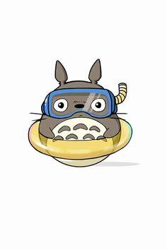 Totoro in swim gear                                                       …