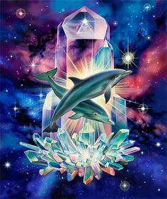 Dolfijnen en kristal....healing