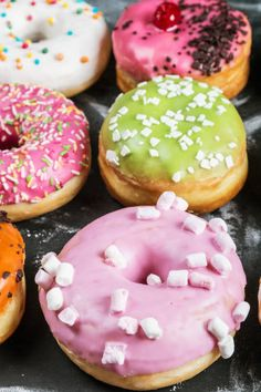 glazed donuts with different fillings