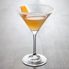 Sidecar: Sugar 1.5 oz VS or VSOP Cognac .75 oz Cointreau .75 oz Fresh lemon juice Garnish: Orange peel Glass: Cocktail HOW TO MAKE THE SIDECAR COCKTAIL  Coat the rim of a cocktail glass with sugar and set aside. (Do this a few minutes ahead of time so the sugar can dry and adhere well to the glass.) Add the remaining ingredients to a shaker and fill with ice. Shake, and strain into the prepared glass. Garnish with a piece of orange peel.