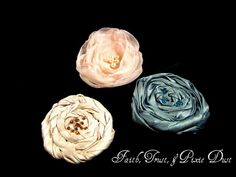 Fabric rosette pins