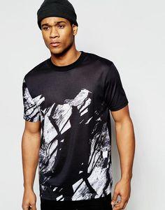 ASOS | ASOS Relaxed Skater T-Shirt With Shatter Print at ASOS