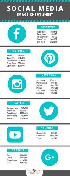 Social Media Sizes, Social Media Cheat Sheet, Social Media Images, Social Media Content, Social Media Design, Social Media Graphics, Social Networks, Social Media Marketing Business, Internet Marketing