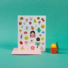 Emojis for Life / greeting card by EsSuperFun on Etsy